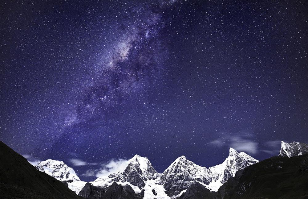 Milky Way above Cordillera Huayhuash, Peruvian Andes Photo Tour, June 2018