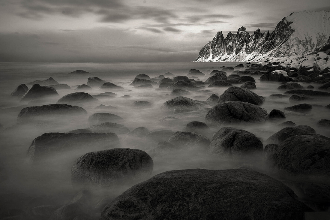 Rocky coast of Senja Island; Senja Photo Tour, February 2019