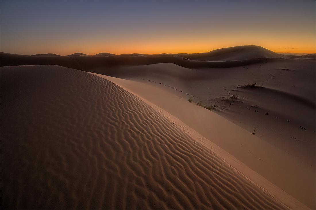 Sunrise over dunes, Morocco Photo Rour, November 2015