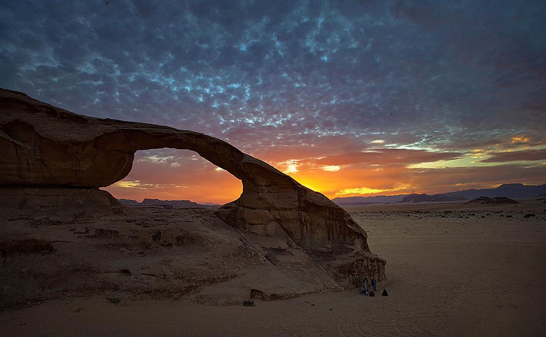 Wadi Rum rock arch; Jordan Photo Tour, November 2018